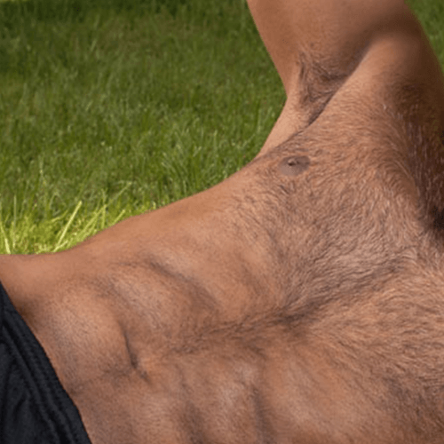 Mens shaved stomachs